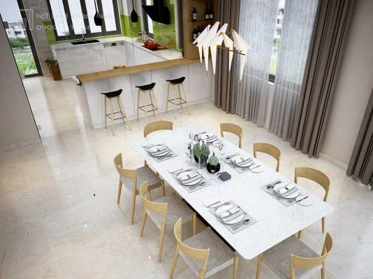 bếp hiện đại nội thất biệt thự