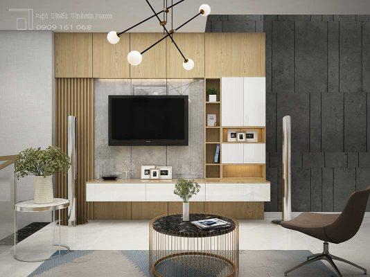 phòng khách nội thất nhà phố