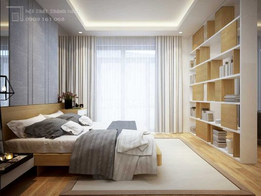 phòng ngủ hiện đại nội thất biệt thự