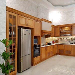 tủ bếp gỗ tự nhiên quận 2
